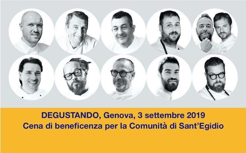 Degustando Genova: anche chef stellati alla cena di beneficenza per la Comunità Sant'Egidio