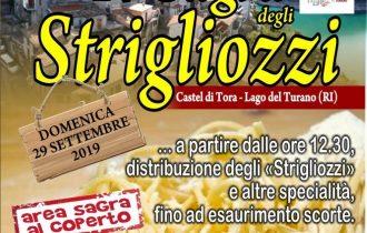 Sagra degli strigliozzi, Castel di Tora (RI) celebra il suo piatto tipico – 29 settembre