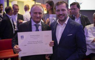 riconoscimento alla carriera al Sommelier Giuseppe Vaccarini, Presidente di ASPI