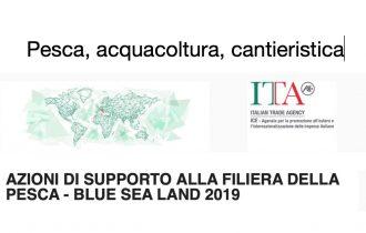 ICE e BLUE SEA LAND 2019 – AZIONI DI SUPPORTO ALLA FILIERA DELLA PESCA