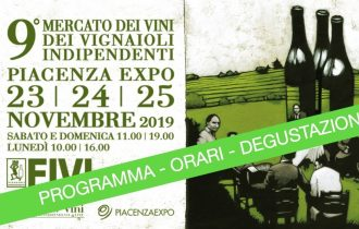 Mercato dei Vini del Vignaioli Indipendenti – Piacenza Expo 2019-  Programma degustazioni