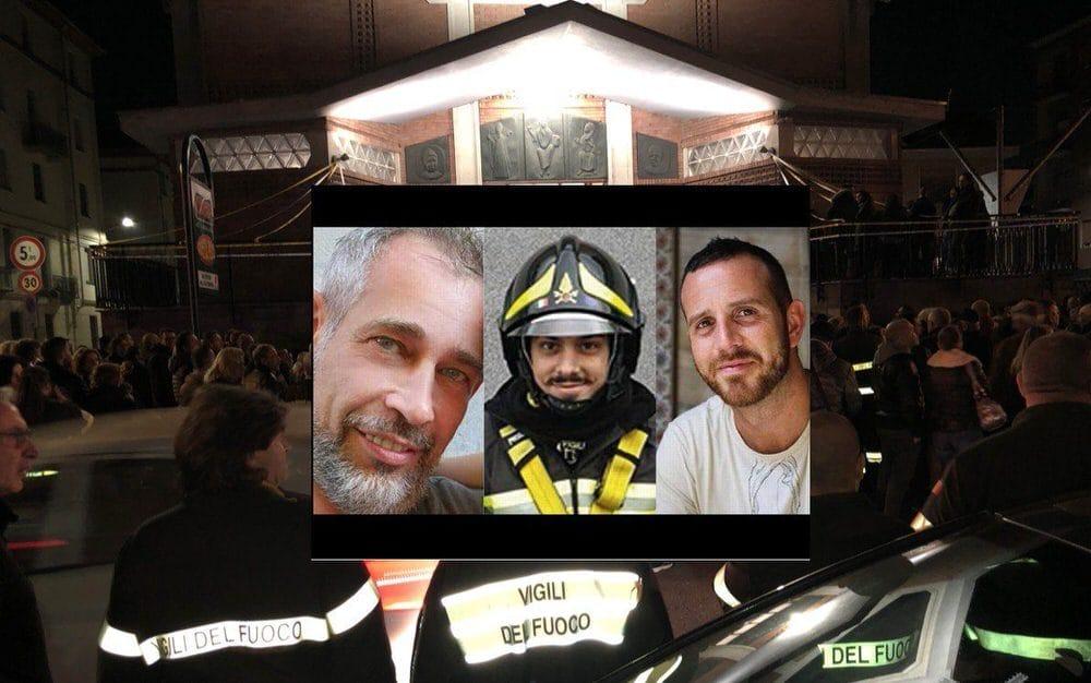 Necrologio di Marco Triches, Matteo Gastaldo e Antonino Candido, Vigili del Fuoco