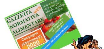 Etichettatura, Igiene e Normativa Alimentare 2020 – Aggiornamento settimanale  via email