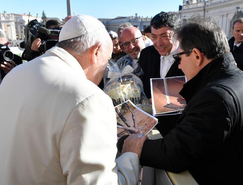 La Manna veniva dal Cielo, ora è Fiasconaro che la porta a Papa Francesco