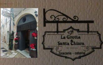 La Grotta Santa Chiara: Braceria – Osteria fresca d'estate e calda d'inverno