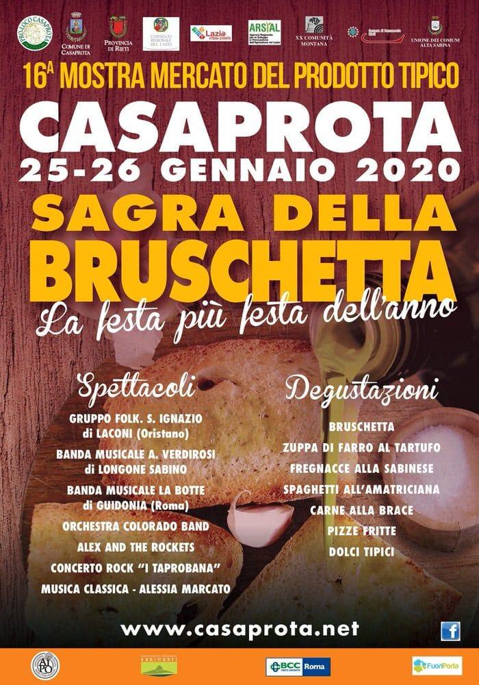 Sagra della bruschetta, Casaprota (RI) celebra il suo famoso olio – 25/26 gennaio