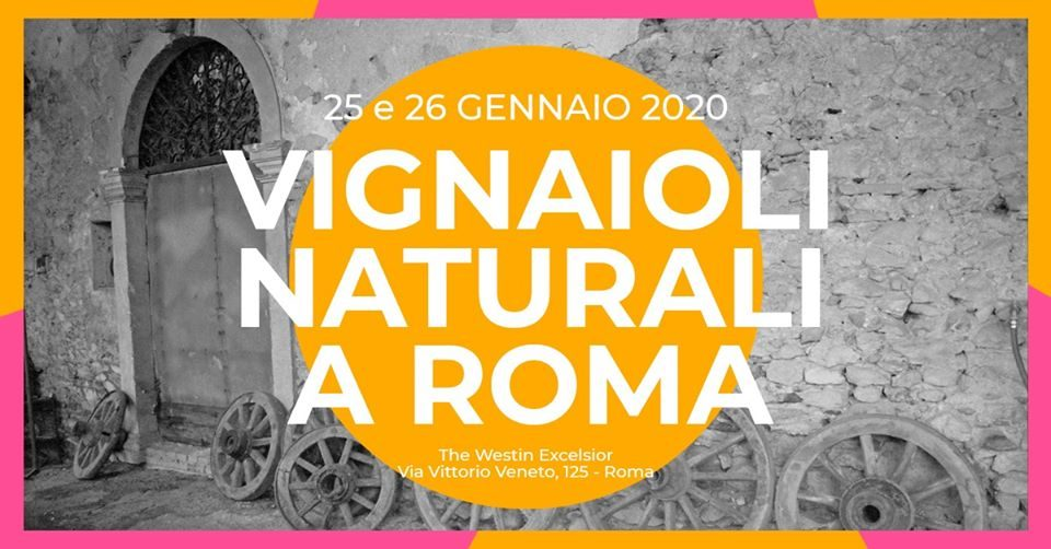 Torna vestito di rosa e arancio Vignaioli Naturali a Roma