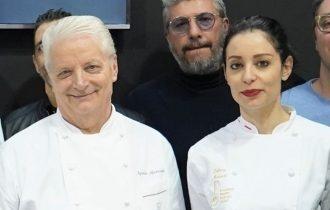 Iginio Massari e la figlia Debora dal palco di Molino Dallagiovanna al SIGEP 2020