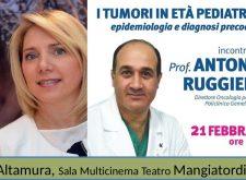 Il Prof. Antonio Ruggiero, Oncologia Policlinico Gemelli di Roma, ad Altamura, contro il male del secolo