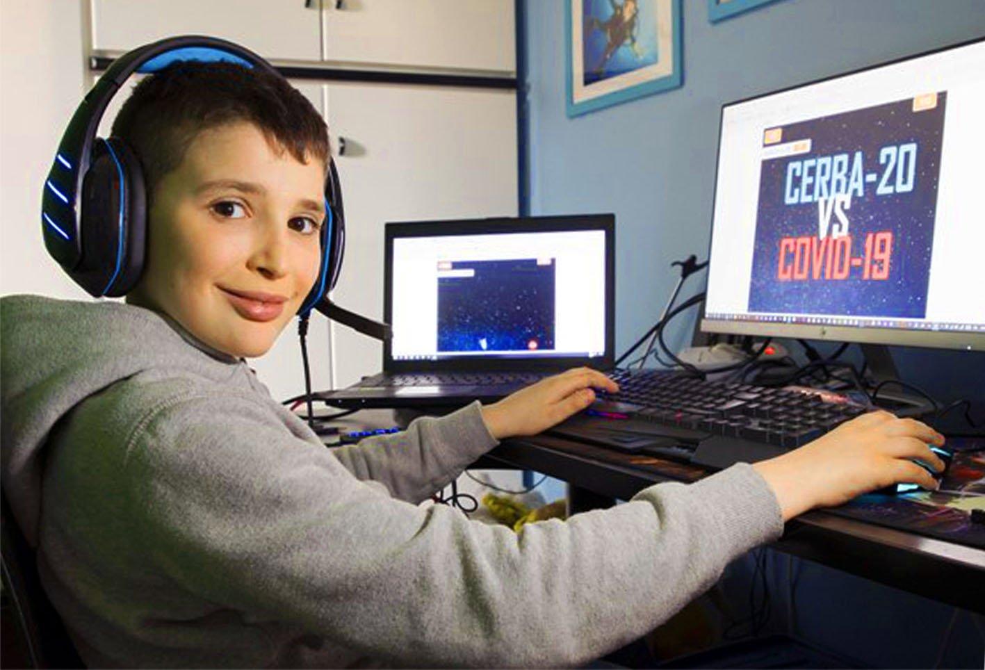 A Binasco, uno studente di IV elementare crea un videogioco contro il coronavirus