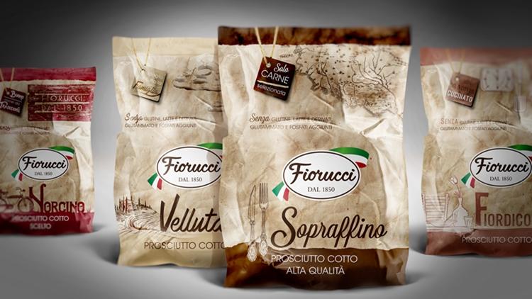 LeRoi firma il pack design dell'intera linea di prosciutti cotti Fiorucci