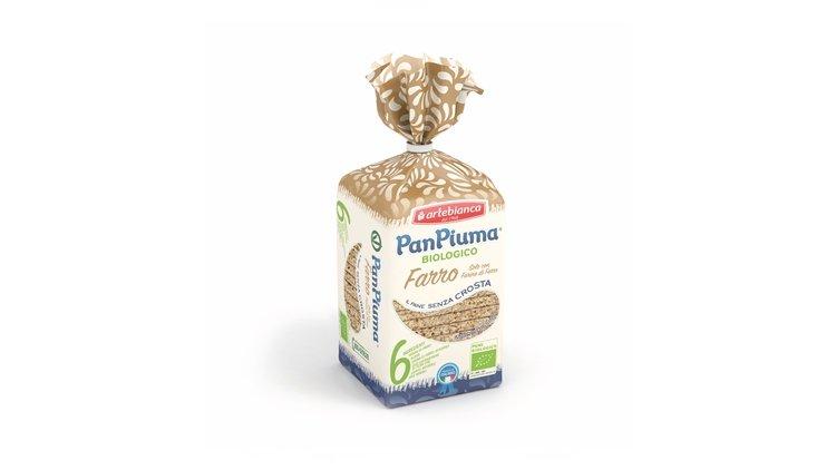 Pan Piuma Biologico al Farro, le morbide fette di pane realizzate con farine di farro biologiche