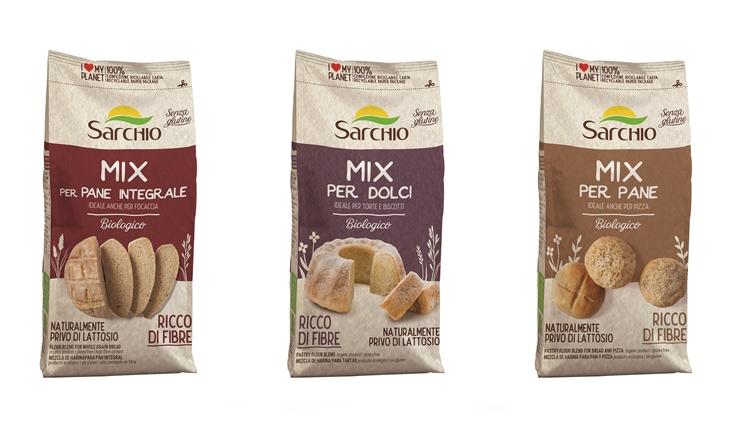 Sarchio presenta 3 nuovi Mix biologici e gluten free per pane, pizza e biscotti fatti in casa