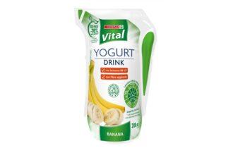 Nuovo look per lo yogurt drink Despar Vital, ora in un eco pack con il 70% di plastica in meno