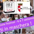 PIACENZA 2020 GOLA GOLA FOOD and PEOPLE FESTIVAL  2020 con la mascherina