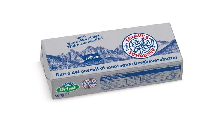 Nuovo formato da 500g per il burro Sciaves di Brimi