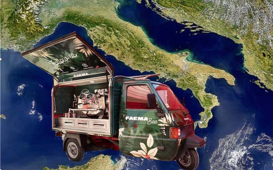 Faema Global Coffee Tour from Italy to the world 2020 – 2021