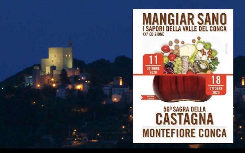 Montefiore Conca: Mangiar sano e  56^ sagra della castagna