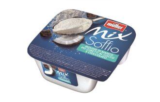 Müller arricchisce la linea Mix Soffio con due novità: Müller Mix Soffio Cubetti al Cocco e Cioccolato e Müller Mix Soffio Brownies al Caffè