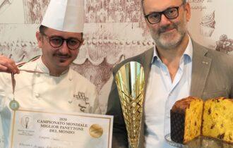 Il giovane pastry chef Ruggiero Carli di Emporio Borsari la medaglia d'oro per il Miglior Panettone Classico del Mondo anno 2020