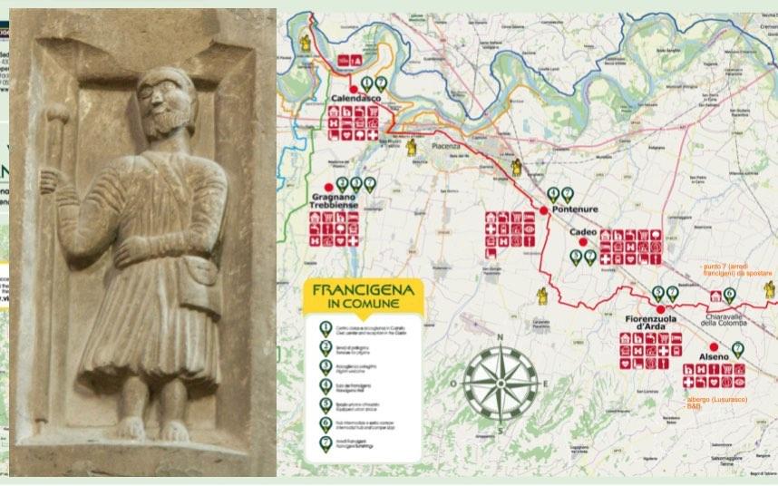 Via Francigena Tratto Piacenza: comitato pro Patrimonio Unesco – Referente Giampietro Comolli