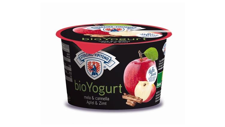 bioYogurt al gusto mela e cannella di Latteria Vipiteno, un mix dolce e speziato che fa subito inverno