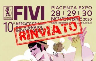 Mercato dei Vini FIVI: rinviato al 2021 l'evento di Piacenza, appuntamento nelle cantine
