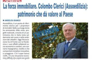 Superbonus 110%, mercato immobiliare… Intervista ad Achille Colombo Clerici, presidente Assoedilizia,