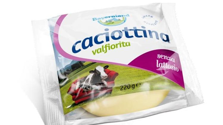 Caciottina Valfiorita senza lattosio di Bayernland