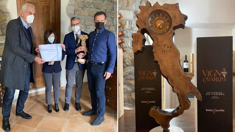 Il Tastevin della guida Vitae dell'Aassociazione Italiana Sommelier ciliegina sulla torta in un anno ricco di riconoscimenti per i vini dell'azienda Fontanavecchia