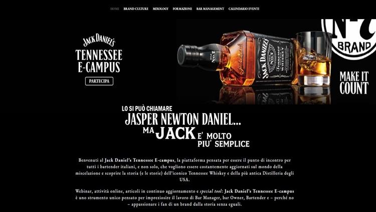 Jack Daniel's presenta Tennessee E-campus, la prima piattaforma di e-learning dedicata alla formazione di bartender e bar manager, online dall'11 gennaio