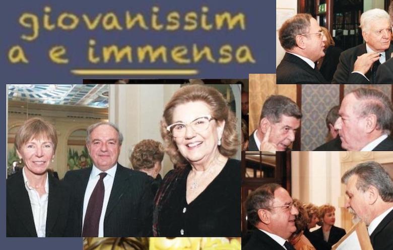 """Premio Max David, Lucio Lami, Sergio Zavoli, Milena Gabanelli in """"Giovanissima e immensa""""."""