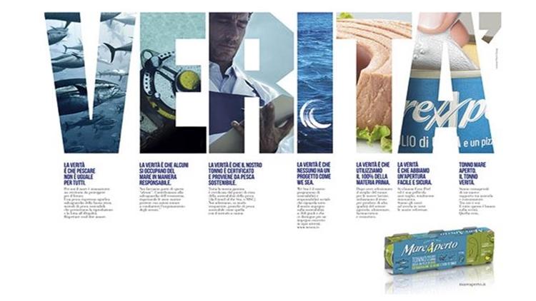 Mare Aperto torna on air. Il marchio genovese di conserve ittiche rimarca il suo posizionamento, sempre più sostenibile