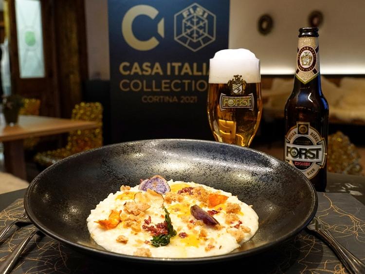 """Prelibato """"Piatto FORST"""" creato dallo chef stellato Graziano Prest per i Mondiali di Sci a Cortina"""