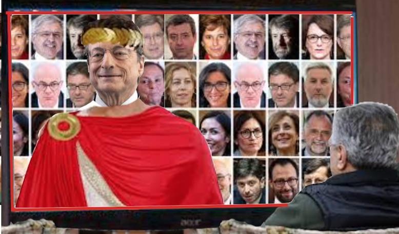 Mario Draghi Caesar, imperium bonus – GAUDIO MAGNO exsecutiva gaudet supremus habemus