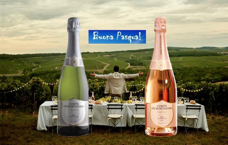 Comte de Montaigne: 5 Cocktail Champagne di Buona Pasqua