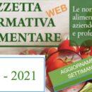 N° 12 – Gazzetta Normativa Alimentare Web –Settimana 22/3/ – 27/3/2021  by Newsfood.com