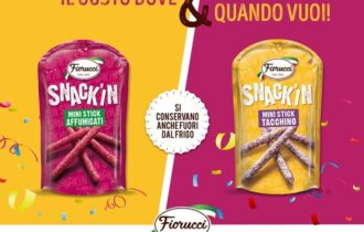 Fiorucci lancia la nuova linea Snack'In ed entra per la prima volta nel comparto degli snack