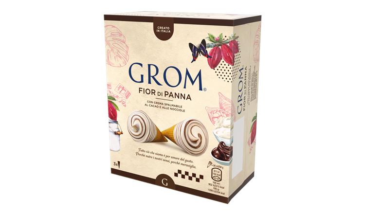 Grom porta il suo iconico cono gelato nella grande distribuzione e nei bar