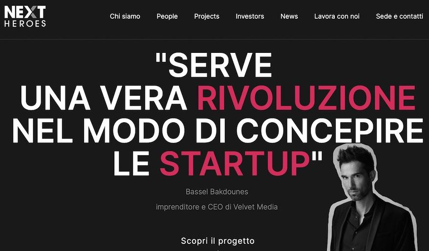 Bassel Bakdounes crea Next Heroes per le start up che vogliono fare business nel web – Entra anche tu nella nuova cittadella dell'innovazione di Velvet Media