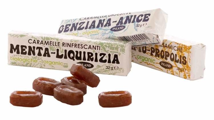 Nuove caramelle totalmente bio di Inland, gusto Menta e Liquirizia