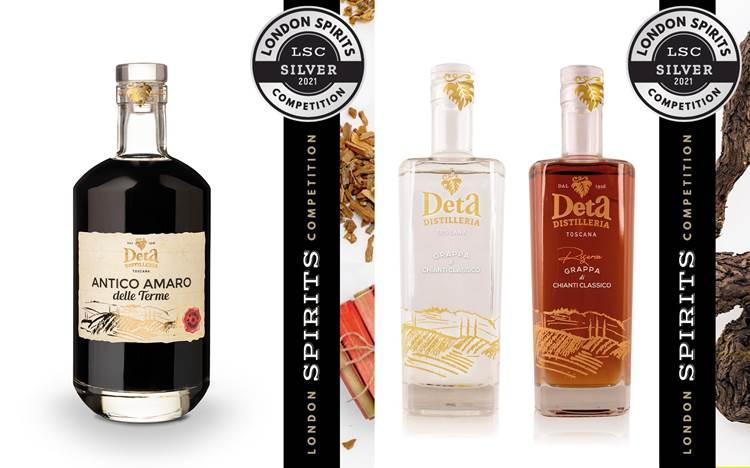 Pioggia di medaglie per Distilleria Deta al London Spirits Competition