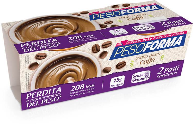 Pesoforma, nasce il nuovo pasto sostitutivo Coppa Gusto Caffé