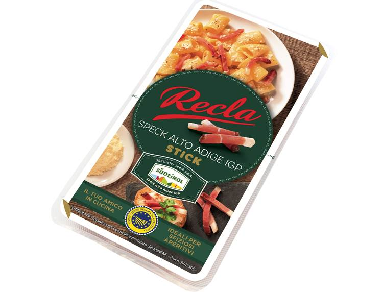 Recla Speck Alto Adige IGP in formato stick, subito pronti da utilizzare in tantissime ricette!