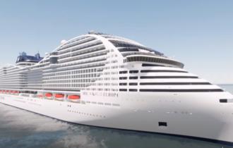 La nave da crociera del futuro: avrà una silhouette futuristica, la prua a forma di FRECCIA e la poppa a Y