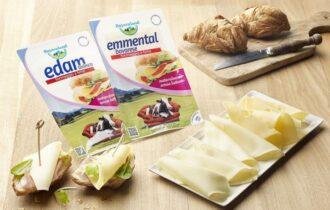 Formaggi affettati Edam ed Emmental senza lattosio di Bayernland