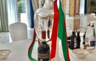 Calcio, il Brunello di Montalcino sul tetto d'Europa alla cena degli Azzurri