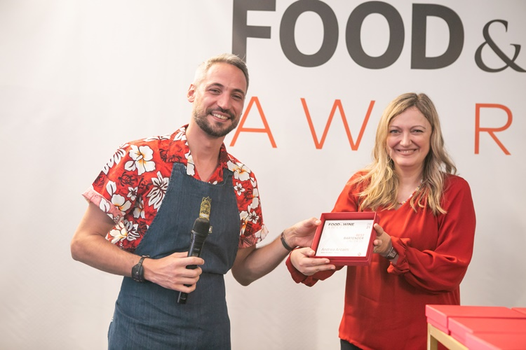 Andrea Arcaini Best Bartender under 35 ai Food&Wine Italia Awards 2021
