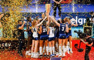 Il Consorzio del Parmigiano Reggiano festeggia la vittoria della Nazionale italiana agli Europei di pallavolo femminile