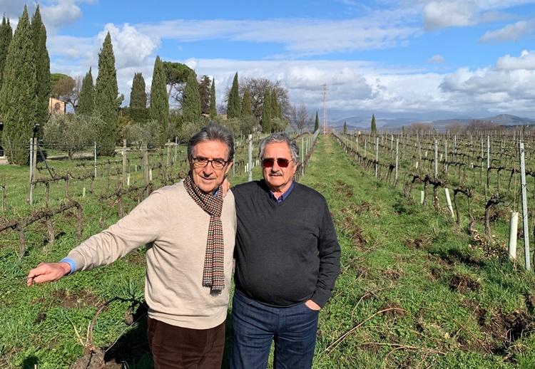 Serafino D'Ascenzi e Riccardo Cotarella, una nuova sinergia nata da una lunga amicizia